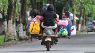 A habal-habal motorcycle