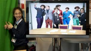Fatemah gets to meet One Direction with the magic of green screen technology