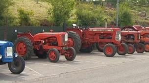 Tractors at the showground
