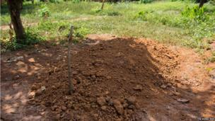 Graves of Muslims in the enclave PK12 near Bangui, CAR