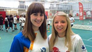 Laura Beardsmore and organiser Sarah Crossley
