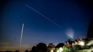 The ISS as seen from Llandudno