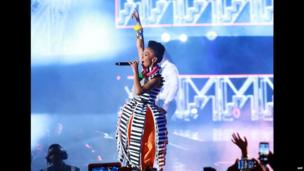 Mafikizolo singer performing at the MTV Africa Awards - Sunday 8 June 2014