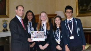 Prince Edward and Hove Park School Reporters