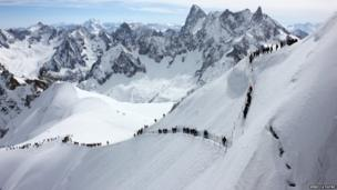 Aiguille du Midi skilift in Chamonix, France