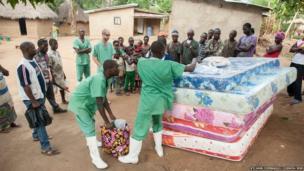 Distributing mattresses