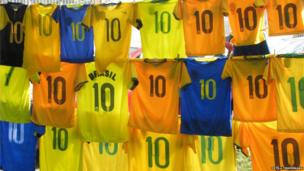 Brazilian football shirts