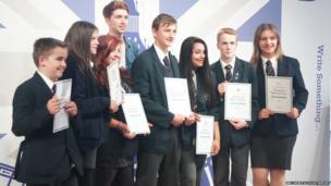 Anti-bullying ambassadors from Appleton Academy receive their Diana Awards