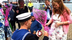 Marriage proposal in Plymouth