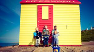 Beach hut in the sun in Whitstable