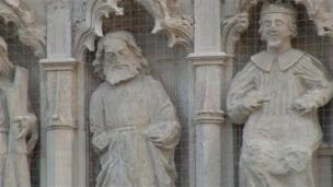 Statues on Exeter Cathedral