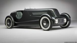 """Edsel Ford Model 40 Special Speedster, 1934. Designed by Edsel Ford and Eugene T. """"Bob"""" Gregorie. Courtesy of the Edsel and Eleanor Ford House, Grosse Pointe Shores, Michigan"""