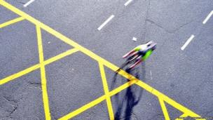 Cyclist at Vauxhall Cross