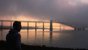 Haar over Forth bridges