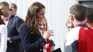 Duchess of Cambridge at National Hockey Cente