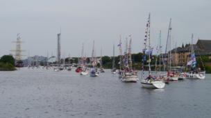 Flotilla on the River Clyde