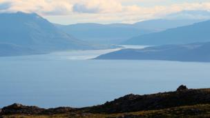 View from Bealach na Ba to the Isle of Skye