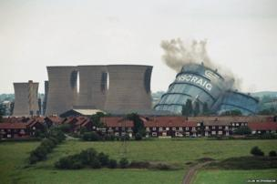 Boom! (1996-2014): The demolition in 1996 of the iconic towers at Ravenscraig, Europe's largest hot strip steel mill. The plant at Motherwell, Lanarkshire was closed in 1992. From the series Phoenix: the fall and rise of Ravenscraig