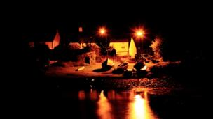 Toberonochy at night