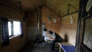 Hutcheson hut inside