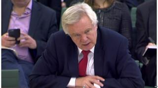 David Davis addressing MPs