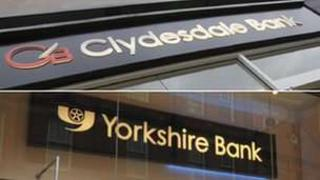 Clydesdale and Yorkshire Bank signs