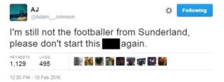 I'm still not the footballer from Sunderland