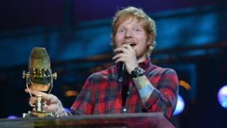 Ed Sheeran at BBC Music Awards 2014