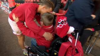 Young Bristol City fan Oskar Pycroft shortlisted for Football League award - BBC News  89163020 89163019