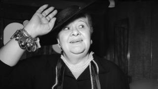 Sophie Tucker in her mid-60s