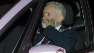 Jeremy Corbyn arrives for the Privy Council meeting