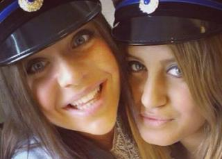 Alexandra Mezher (R) graduated from school with her friend Lejla Filipovic (R) in 2012