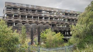 Nature began to reclaim St Peter's - photographed here in 2011