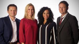 Watchdog team (l-r) Chris Hollins, Sophie Raworth, Michelle Ackerley and Matt Allwright