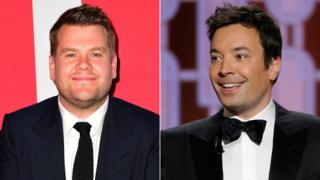 James Corden and Jimmy Fallon