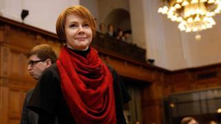Глава украинской делегации, заместитель министра иностранных дел Украины Елена Зеркаль