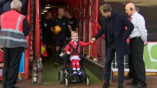 Young Bristol City fan Oskar Pycroft shortlisted for Football League award - BBC News  89163066 89163065