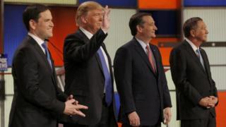 Rubio, Trump, Kasich and Cruz