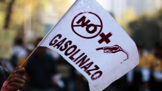 """Protesta contra el """"gasolinazo"""""""