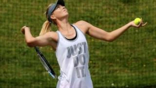 Maria Sharapova wearing a Nike t-shirt