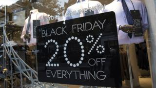 Black Friday shop window