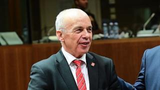 Finance minister, Ueli Maurer