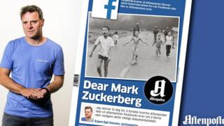 Aftenposten editor and Napalm girl photo
