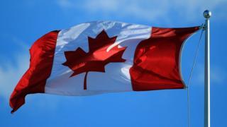 Bandera de Canadá.
