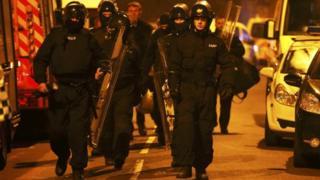 Riot teams in Birmingham