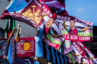 West Ham flags at Upton Park