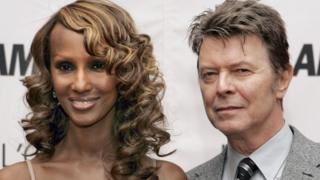 David Bowie with wife, Iman, in October 2006