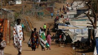 People walking in South Sudan