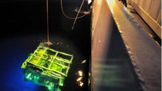 "An undated handout picture provided by Deep Ocean Search Ltd (DOS) on 16 June 2016 shows a diving robot of search vessel ""S.V. John Lethbridge"" at an undisclosed locatio"