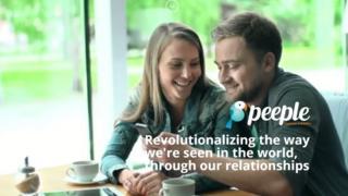 Peeple website - couple looking at phone